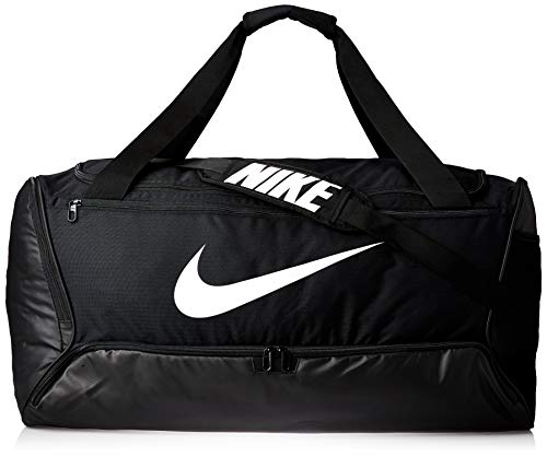 Nike Brasilia (Large) Trainingstasche, Black/Black/White, 71 x 36 x 36 cm