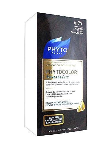 Phyto Sensitive Phytocolor Coloration Permanente 6,77 Farbe hellbraun Cappuccino