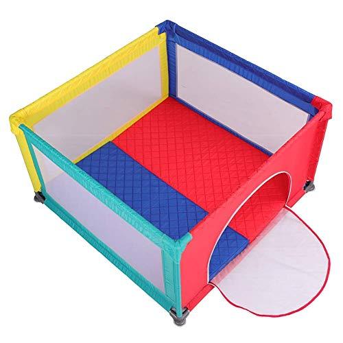LY88 Extra hoge baby-loopstal met dikke kruipmat, veiligheids-anti-rolgordijn-speelhek in volledige afmetingen, 70 cm hoog, voor jongens en meisjes