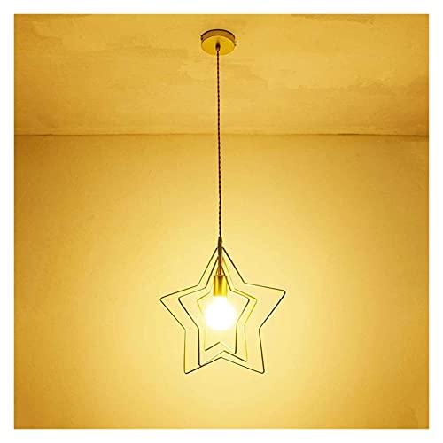Candelabro Sala de estudio Tienda de ropa personalizada Decorativo Moderno Minimalista Estrella hueca Candelabro de hierro forjado D37cm