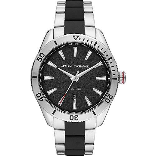 Armani Exchange zegarek kwarcowy z paskiem ze stali nierdzewnej AX1824