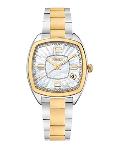 FENDI Womens Momento Fendi Two Tone 31.5mm Bracelet Fashion Watch
