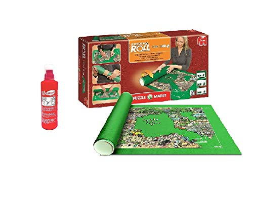 Promohobby Tapete para enrollar Puzzles (hasta 3000 Piezas) + Educa Pegamento para Puzzles 250cc (Ref. 17193)