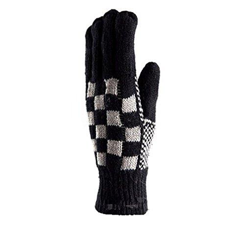 YanFeng uomo lavorato a maglia Inverno griglia Guanto, colore casuale