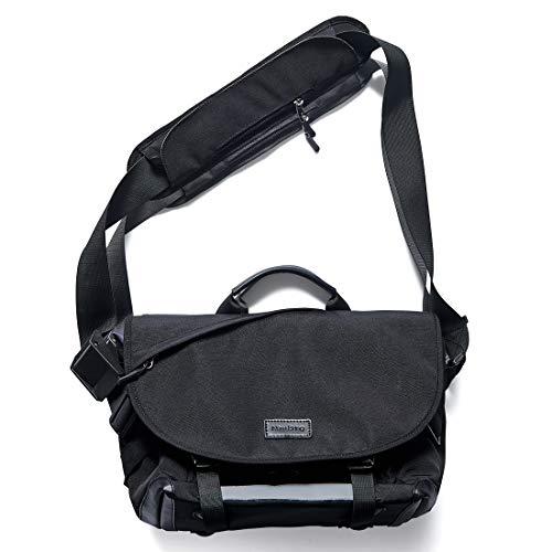 NewBring Messenger Bag for Men and Women Laptop Bag 14 Inch, Water Resistant Computer Satchel Crossbody Shoulder Bags Work School Sport Travel Casual Unisex (Midnight Black)
