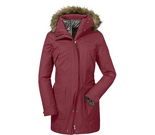 Schöffel Damen 3in1 Jacket Genova1 Doppeljacken, Ruby Wine, 40
