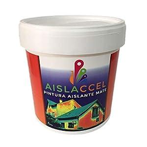 AISLACCEL, PINTURA FACHADAS, pintura pared, pintura pared interior, mejor pintura aislante, pintura blanca, pintura exterior, pintura antihumedad, pintura térmica, AISLACCEL 4 y 14 lt (4 Lt)