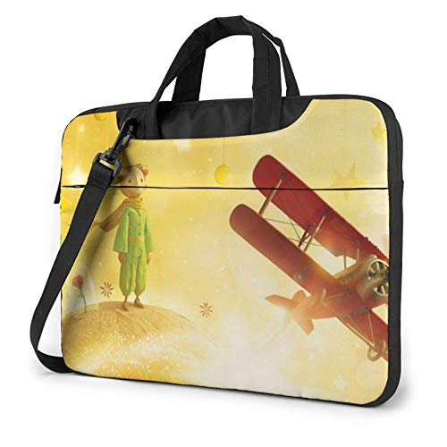Laptop Sleeve Bag Little Prince Tablet Briefcase Ultraportable Protective Canvas for 14 Inch MacBook Pro/MacBook Air/Notebook Computer