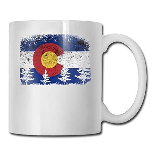 Taza de té con diseño de bandera de Colorado