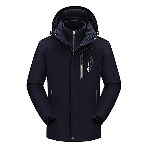 HESHI ski-jack heren winterjas Tre-in-One waterdicht uitneembaar fleece binnenjack waterdicht ski-jack ideaal voor winter