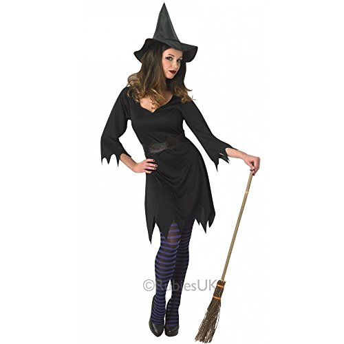 Rubie's Costume da strega incantatrice, per donna adulta, costume ufficiale, taglia L, colore: nero