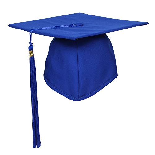GraduationForYou Unisex Matte Adult Graduation Cap with Tassel 2020 Royal Blue
