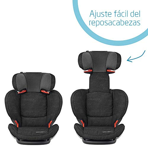 Bébé Confort RodiFix AirProtect Silla de auto 15 36 kg Isofix, Reclinable, Grupo 2/3 para niños de 3,5 a 12 años, Protectores laterales, color Nomad Black