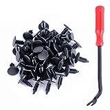 Mamiko 100 Pcs Plastic Fastener Push Pins Universal Fit Electric/Gas Yamaha Golf Cart X-Mas Club Car EZGO TXT RXV Tree Rivets Clips Replace# 1010434, 16816-G1, 16816-G2, 10-9150-NS, 90269-06028