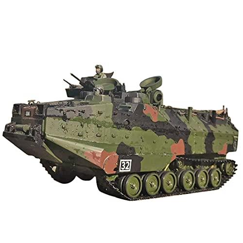 Mocdiy Coche teledirigido 2.4 GHz Tanque RC Coche teledirigido 1:10 ataque anfibico tanque teledirigido con LED de búsqueda brillante, vehículo con efectos de sonido y humo, versión RTR.