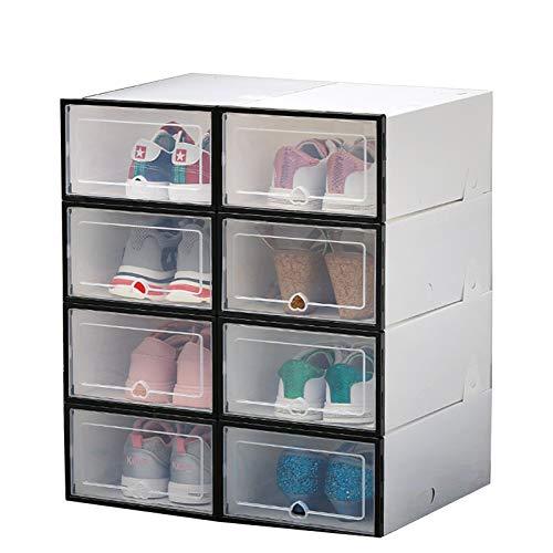 QQJL Caja de Zapatos Transparente Caja de Zapatos de plástico acrílico Engrosado Bolsa de baño Varios Organizador de Zapatos cosméticos Limpieza Conveniente,Negro