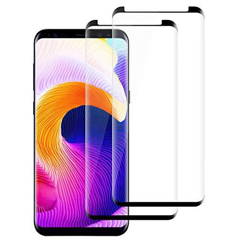 [Lot de 2] Verre Trempé pour Samsung Galaxy S9 Plus Film Protection Ecran,[Ultra Résistant] [HD Ultra Transparent] [9H Dureté] [sans Bulles] [Anti Rayures]