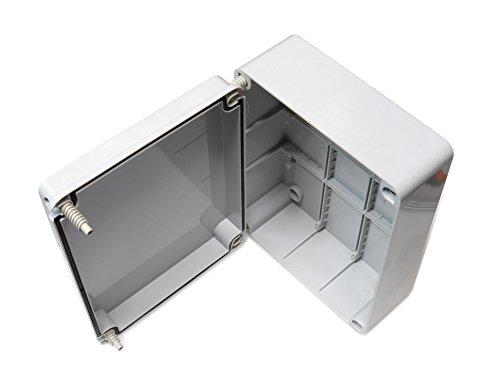 Caja de conexiones con tapa abisagrada (240x 190 x 90mm), de plástico...