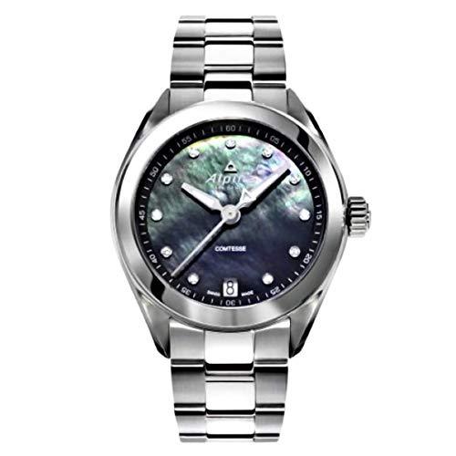 Alpina Comtesse Reloj de Mujer Diamante Cuarzo Suizo 34mm AL-240MPBD2C6B