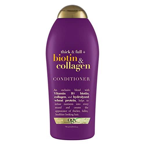 OGX Thick & Full + Biotin & Collagen Conditioner, Salon Size, 25.4 Fl Oz