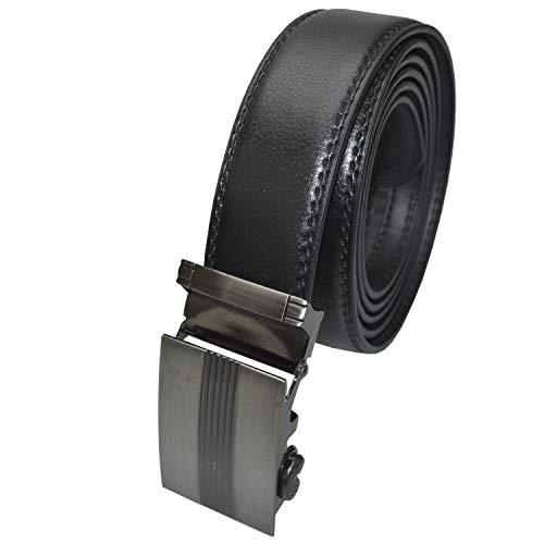 flevado Hochwertiger Gürtel Automatik Gürtel mit Edelstahl Design Schnalle (105 cm Länge)
