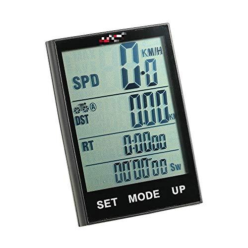 Velocímetro inalámbrico para bicicleta, cuentakilómetros, temperatura de fondo, resistente al agua, para...