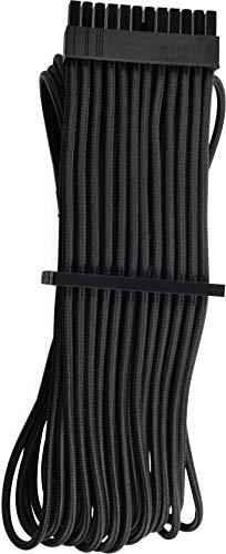 Corsair Premium Sleeved 24 pin-Polig-ATX-Kabel Typ4 (Generation 4-Serie) Schwarz