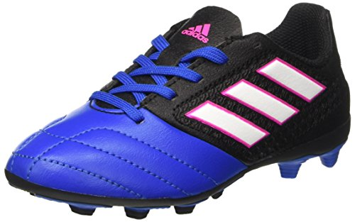 adidas Unisex-Kinder Ace 17.4 FxG J Futsalschuhe, Schwarz (Cblack/ftwwht/Blue), 38 EU