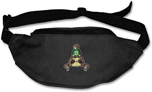 tyui7 Marsupio Sloth Turtle Snail Sport Marsupio con Cinturino Elastico Regolabile per Escursioni in Bicicletta