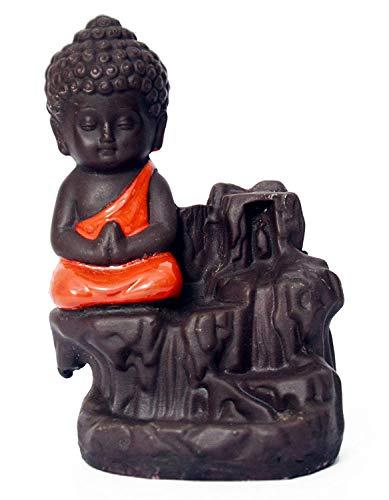 Fuente de humo de Buda con 10 conos perfumados de flujo posterior de humo, inciensos rojos, decoración del hogar, sala de estar, decoración del hogar, artículo de regalo para interiores y exteriores