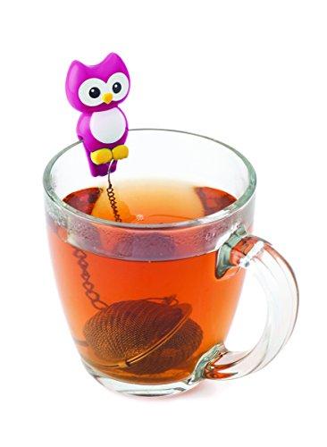 MSC International 11120 MSC Joie Hoot Owl Cup Mesh Ball Loose Leaf Tea Infuser-Random, Assorted Colors