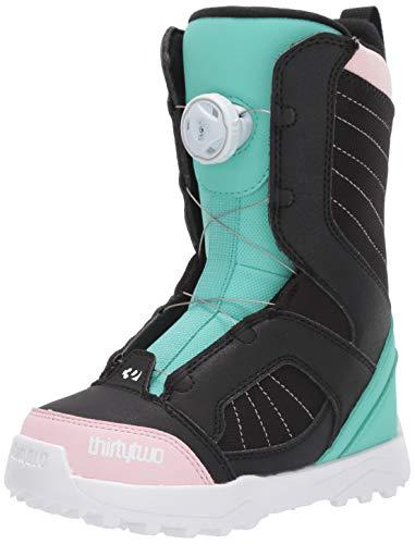 thirtytwo Kids BOA '19/20 Snowboard Boot (Black/Pink/Green, 1C)