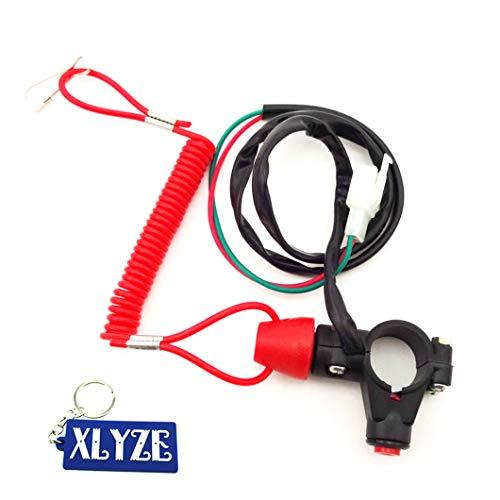 XLYZE Tether Safety Engine Stop Kill interruptor pulsador para chino Mini Dirt ATV Quad Pocket Bike 4 Wheeler Minimoto