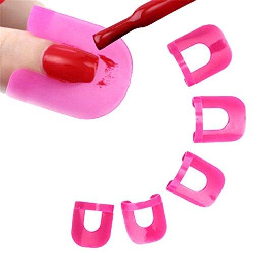 26pcs wiederverwendbare Nagellack einfach Nagellack Schablone Nail Art Schutz Rand Haut langlebig und nützlich