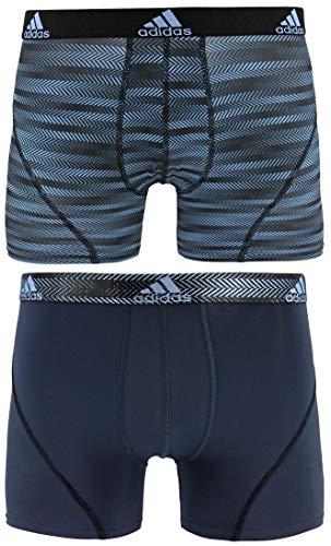 adidas Men's Sport Performance Trunk Underwear (2-Pack), Collegiate Light Blue Ratio Urban Sky Ratio, LARGE