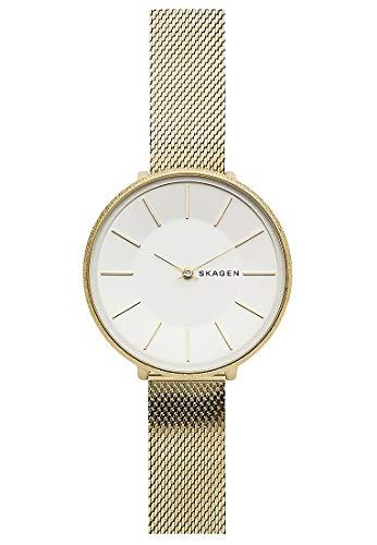 Skagen Damen Analog Quarz Uhr mit Edelstahl Armband SKW2722