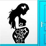 Hospital Pegatinas De Pared Apliques De Vinilo Hermosa Madre Nacida Niño Bebé Mujeres Embarazadas Decoración Del Hogar Decoración Del Hogar Pegatinas De Pared 55X87Cm