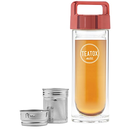 Teatox Bio Thee Thermo Bamboo To Go Bottle Peach Gold, 330 ml, 1 Units