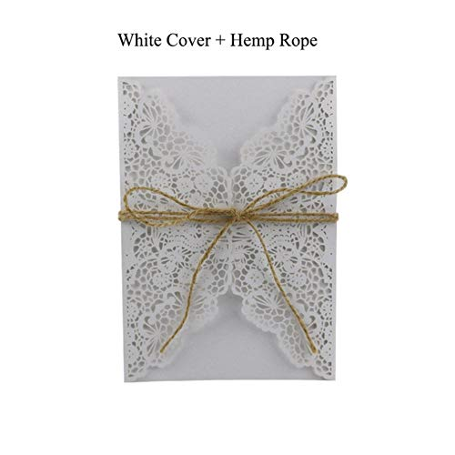 Piero 1 STKS Elegante Uitnodigingskaarten Kits Blanco Groentekaarten Bruiloft Decoratie Feest, Witte Kaft