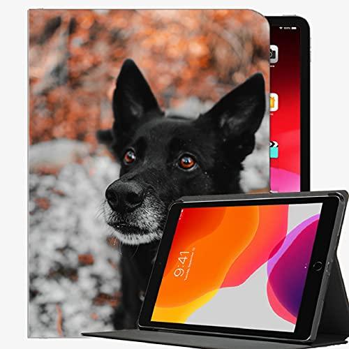 para la Cubierta del Caso del iPad de 9,7 Pulgadas Air1, Perro Negro Bozal Caja Delgada Shell Cubierta para el iPad de Aire de 9,7 Pulgadas
