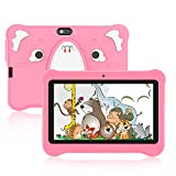 Xgody 7 Inch Kids Tablet 3GB RAM 32GB ROM Tablet for Kids Android 10.0 Toddlers Tablet with WiFi Bluetooth Dual Camera Pre-Installed Kid's Learning-Educational APP Parental Control,Including case