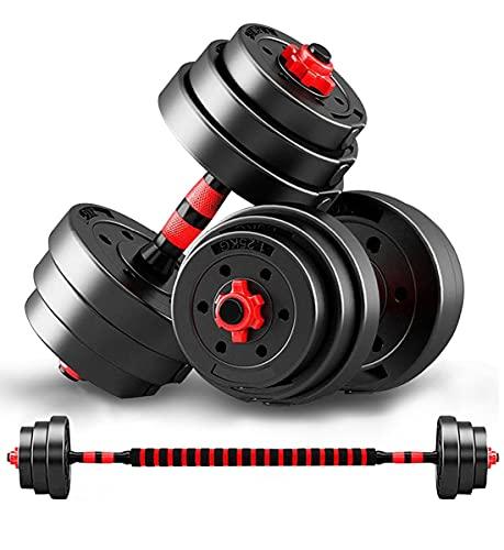bilanciere palestra 50 kg AJUMKER Set manubri Regolabili 50kg