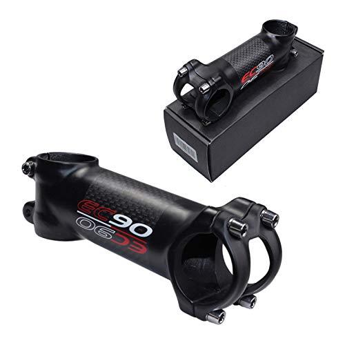 Fahrrad Vorbau Carbon MTB 3K Matt 6/17 Grad Rennrad Vorbau Schwarz 31.8mm Länge 60-120mm