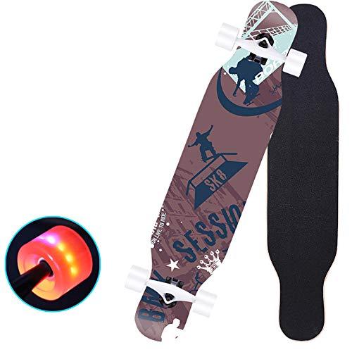 Skateboard BOY Komplette Maple Freestyle Cruiser Longboard Skateboards 43 Zoll für Teens, Anfänger, Tanzen Carven Downhill Cruising Freeride Riding- # 2