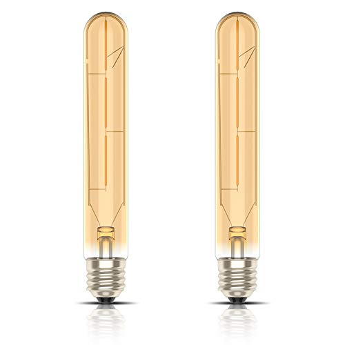 Kcwiau E27 3W Style Edison à filament Ampoule,T30 Lampe Vintage Filament LED,Non-Dimmable Blanc chaud 2200K,Lumen300,AC220V-240V,2 Pièce
