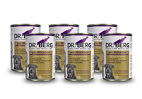Dr. Berg pro-REDUKTION Nassfutter für Hunde: Diätfutter bei Übergewicht & Diabetes (6 x 400 g)