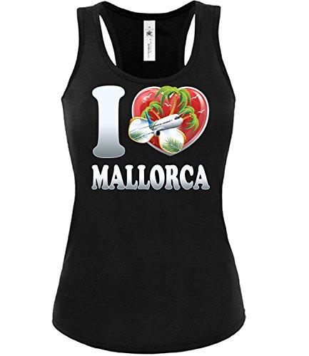 Golebros I Love Mallorca Saufen Party Bier Geburtstag Geschenk Damen Frauen Mädchen Tank Top Tanktop Fun feiern lustig Accessoires deko Geschenkideen be-Kleidung Klamotten Hemd meile Urlaub