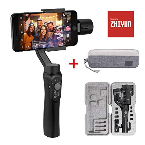 """Gimbal Smartphone con Borsa, Zhiyun Cinepeer C11 Stabilizzatore 3 Assi per Smartphone Fino a 200 g / 0,44 libbre e Dimensione<6.0"""", Compatibile per iPhone Samsung Huawei Xiaomi y GoPro"""