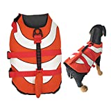 Olgaa Dog Life Jacket Dog Summer Swimming Safety Vest With Superior Buoyancy