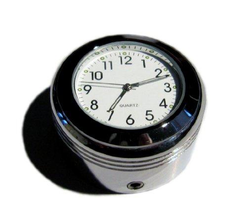 British Made gerillt Royal Enfield City® Billet-Stiel Mutter Cover mit Uhr